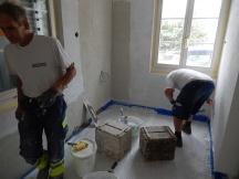 Fertigstellung des Abriebs bei Küchenumbau