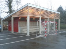 Nebengebäude Obermatt - Schulhaus Möhlin / Neubau Sichtbeton