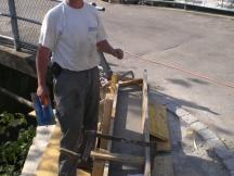 Brückensanierung in Möhlin, Erweiterung Betonsockel