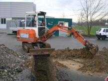 Sondiergrabungen für Hallenneubau in Möhlin