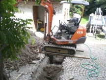 Graben für neue Werkleitungen.