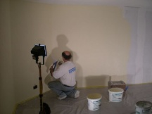 Abrieb auf Rigitherm-Platten, Zimmereinbau im Keller. EFH in Wallbach.