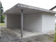 Nebengebäude / Carport Neubau, Sichtmauerwerk aus Kalksandstein