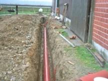 Kanalisationsrohre aus PVC Abwasser, Dachwasser, Platzentwässerung.