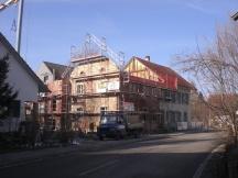 Mehrfamilienhaus während des Umbaus, Hauptstrasse in Möhlin