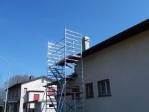 Kaminsanierung mit unserem neuen Rollgerüst, Alemannengasse in Möhlin