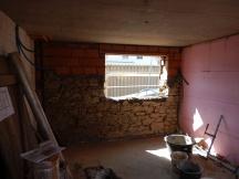 fertiger Fensterdurchbruch in Bruchsteinmauerwerk