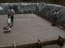 Bodenplatte aus Beton geglättet