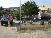 Sickerverbundsteine Antrazit verlegen Parkplatz für EFH in Möhlin.